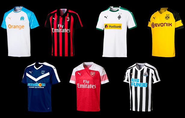 701bb92862 Chegam ao Brasil as camisas das equipes europeias patrocinadas pela PUMA
