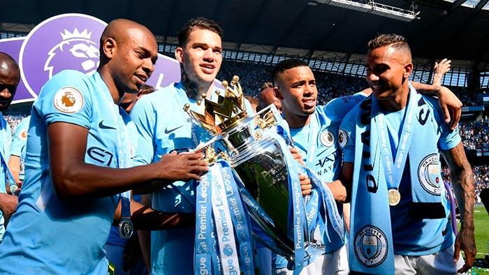 Fernandinho, Ederson, Gabriel Jesus e Danilo Manchester City