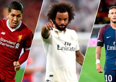 Roberto Firmino Liverpool, Marcelo Real Madrid, Neymar PSG