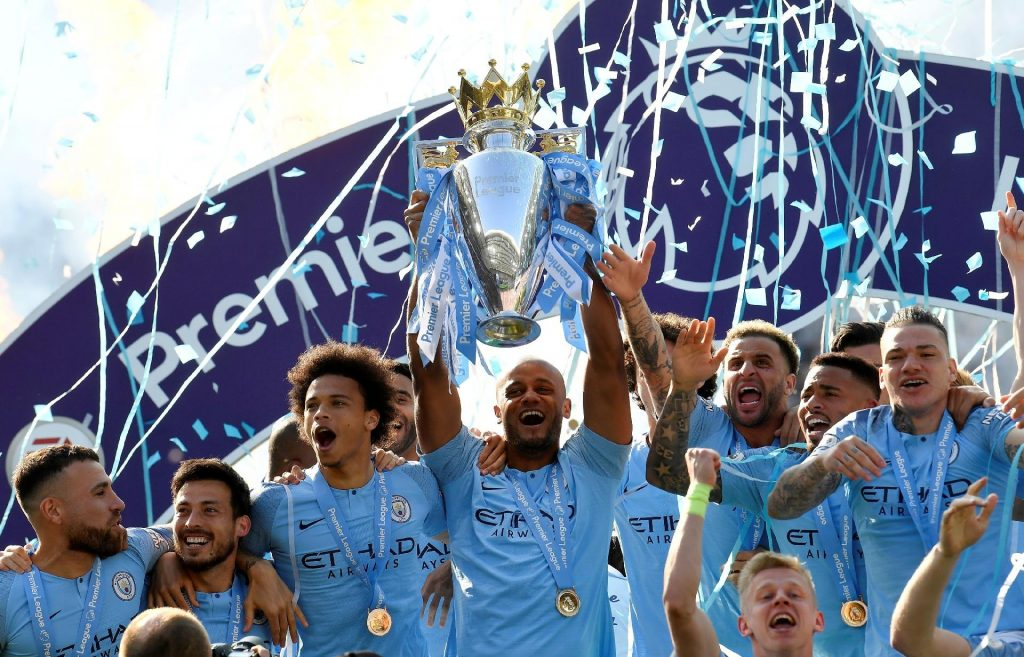 Manchester City Campeão da Premier League 2018-2019