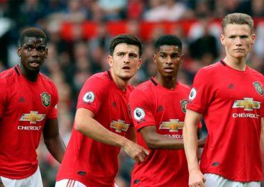 Mancehester United - Paul Pogba, Maguirre, Marcus Rashford, Lindeloff